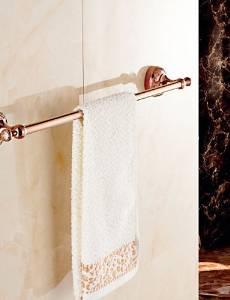 XXTT-Towel Bar Gold Wall Mounted 64cm*7.8cm*6.4cm(25.2*3.1*2.5inch) Brass / Zinc Alloy Neoclassical