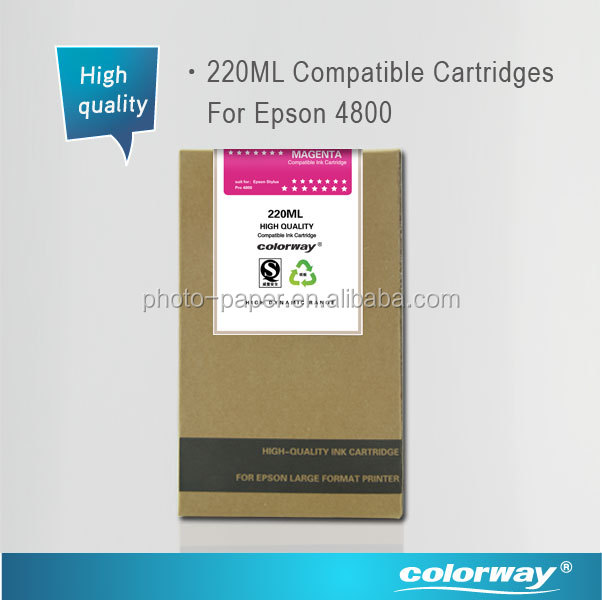 Compatible Inks and Ink Cartridge for Epson 4800/7600/9600/7800/9800 wide format ptinters 220ml