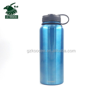 2019 Popular Stainless steel Vacuum flask Double wall sport water bottle with bamboo lid