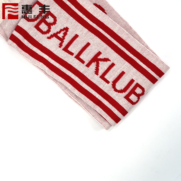 Cheap knitted football fan scarf national flag