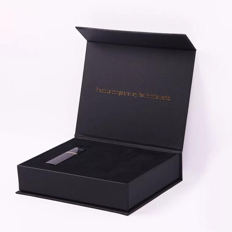 יוקרה מגנטי שחור נייר בגדי חבילה אריזת מתנה
