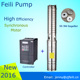 Pompa sommersa 24v solar deep well submersible pump 2 inch diameter