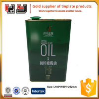3L Olive Oil Metal Tins Packaging With Plastic Handle and Spout Cap