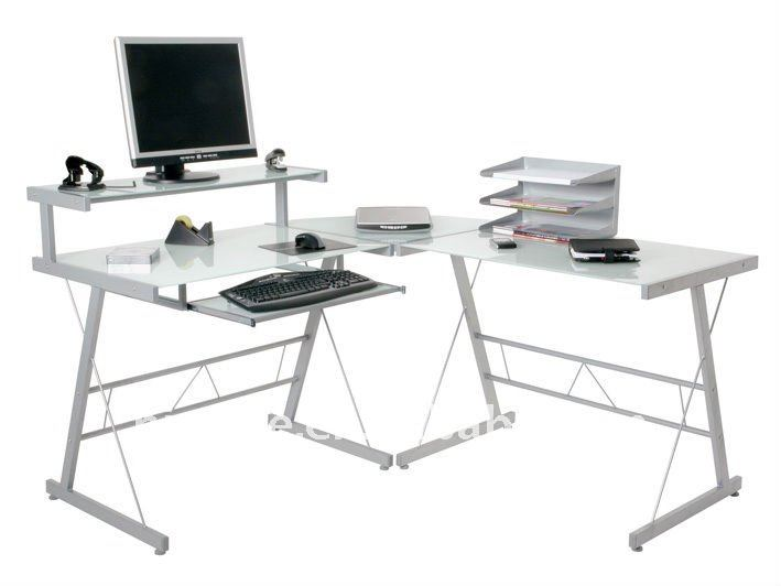 Bureau en verre ordinateur meilleurs meuble bureau en verre la