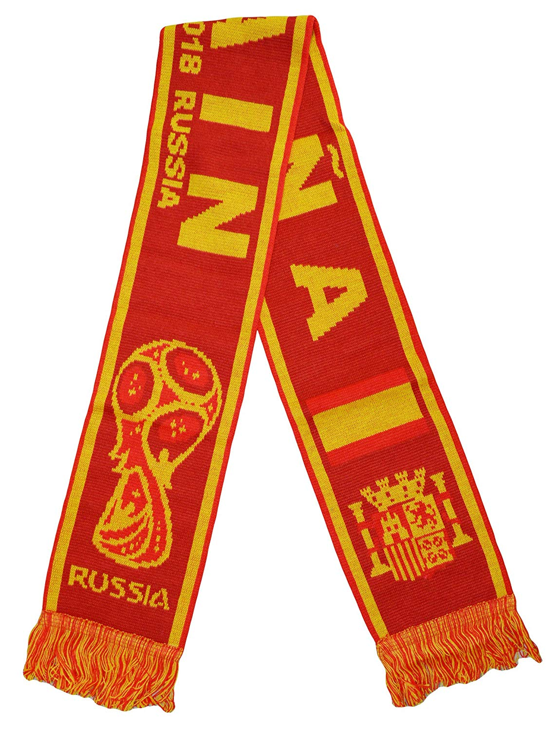 9155f98a0 Get Quotations · Spain Athletic Super Fans Football Jacquard Scarf -  Multicoloured OneSize