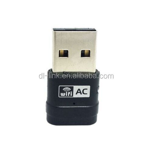 Factory direct sup[ply! AC600 Mini 5GHz & 2.4GHz Dual Band 433Mbps & 150Mbps 802.11ac WiFi USB Network Adapter