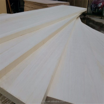 Poplar paulownia wood lumber edge glued panels for drawer side