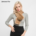 Real Rex Rabbit Fur Raccoon Fur Ball Pompom Scarf High Quality Autumn Winter Women's Fashion Shawls