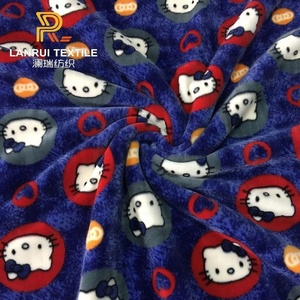 Hello kitty printed super soft home textile blanket fabric