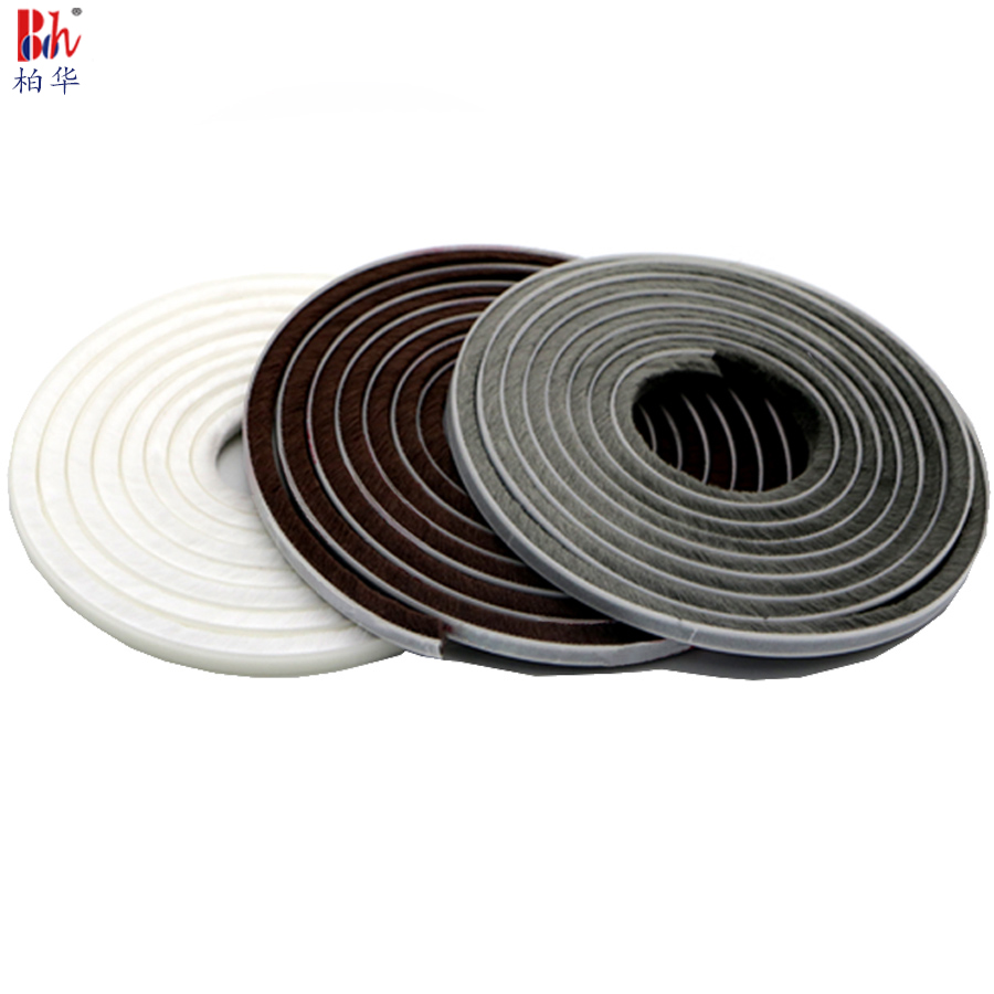 Self-Adhesive Weather Strips Window Frame Door Draught Excluder Brush Pile Seals