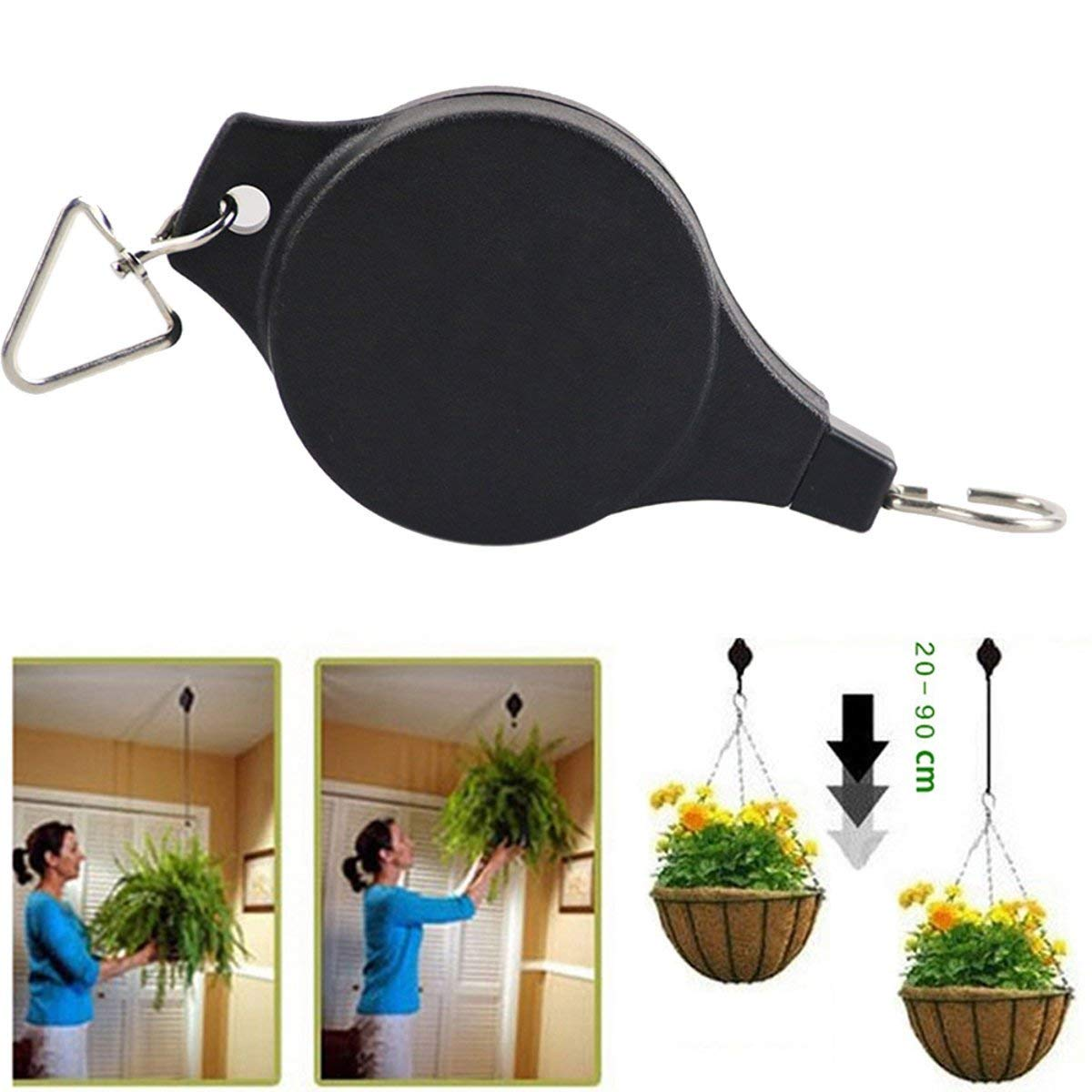 Get Quotations Tacoli Plant Pulley Easy Reach Hanging Flower Basket Hook Hanger