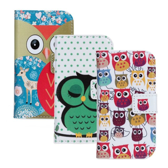Owl Printing Wallet PU Leather Case Cover For Samsung Galaxy Ace 2 i8160