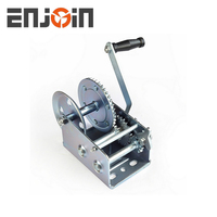 ENJOIN 3000lbs manual hand winch boat drum winch hand winch drum