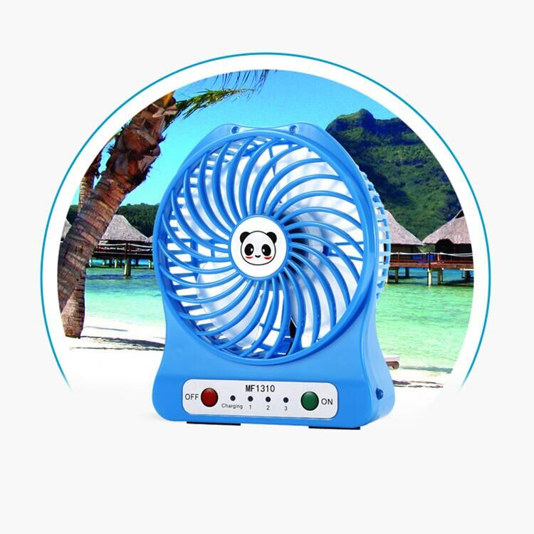 Fast delivery high quality battery power China custom logo mini fan portable home appliances fan rechargeable