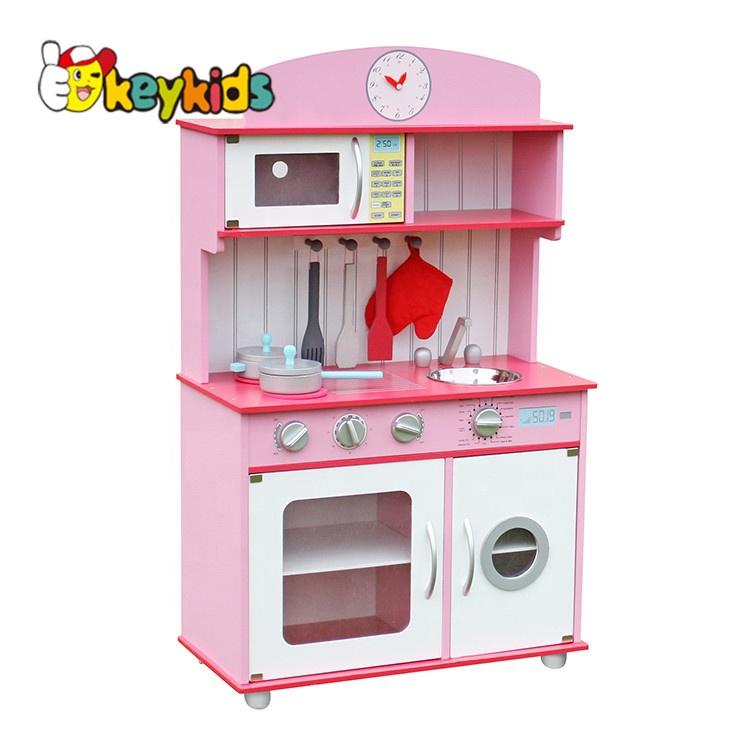 New Design Pretend Play Pink Wooden Kitchen Set For Girls W10c232 - Buy  Kitchen Set,Kitchen Set For Girls,Kitchen Set For Girls Product on  Alibaba.com