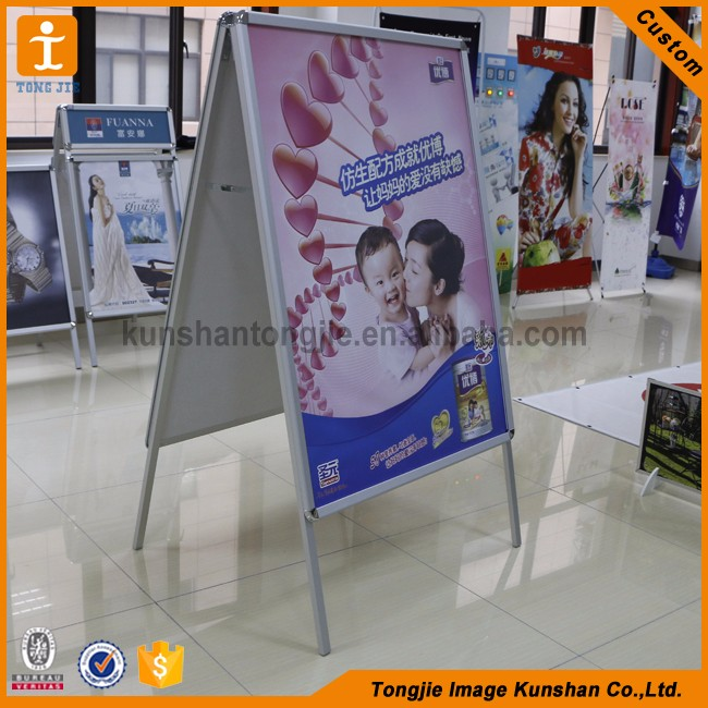 Wholesale customized waterproof aluminum poster stand snap frame
