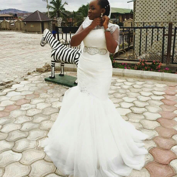 China Oem Cheap Trumpet White African Wedding Dresses Online - Buy ...