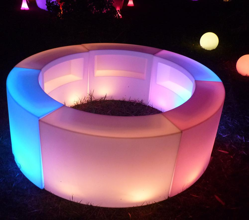 disco LED illuminating <strong>bar</strong> furniture PE multy-color <strong>bar</strong> counter outdoor