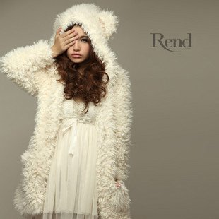 new teddy princess white bear coat with cap and bear ears. Black Bedroom Furniture Sets. Home Design Ideas