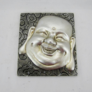 Resin handmade wall decoration buddha face painting for sale