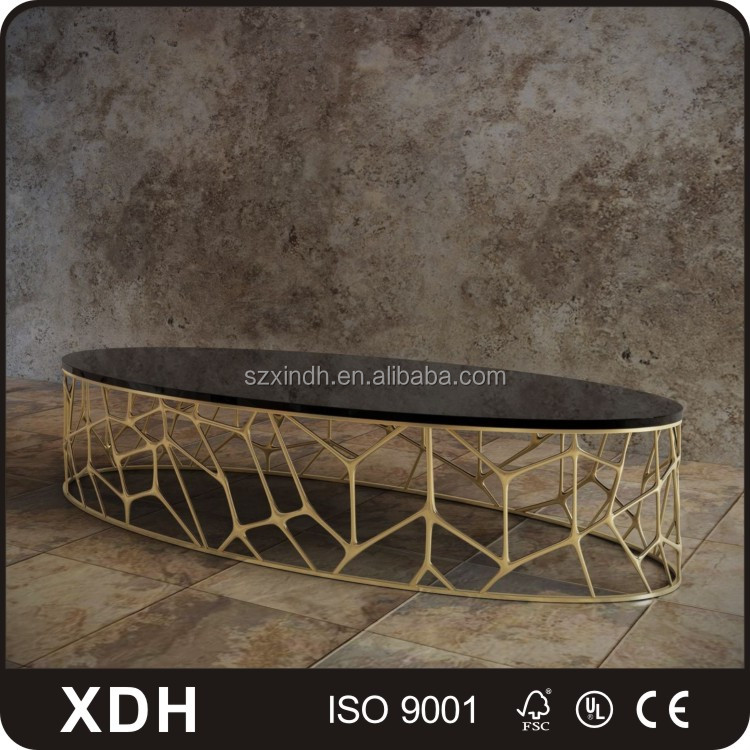 Modern living room furniture design tea table marble oval coffee table