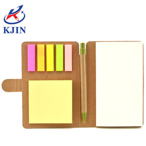 CMYK printing recycled kraft cover notebook with sticky note