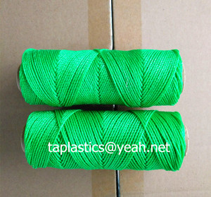 gree blue twisted pe rope spool twine for fishing industry