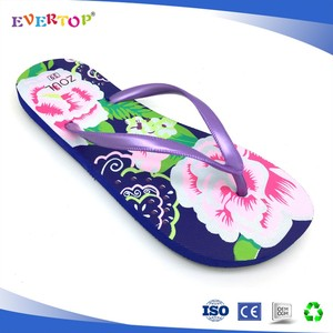 2018 sexy feet simple design zebra-stripe printing hotel bathroom slippers spa flip flop shoes