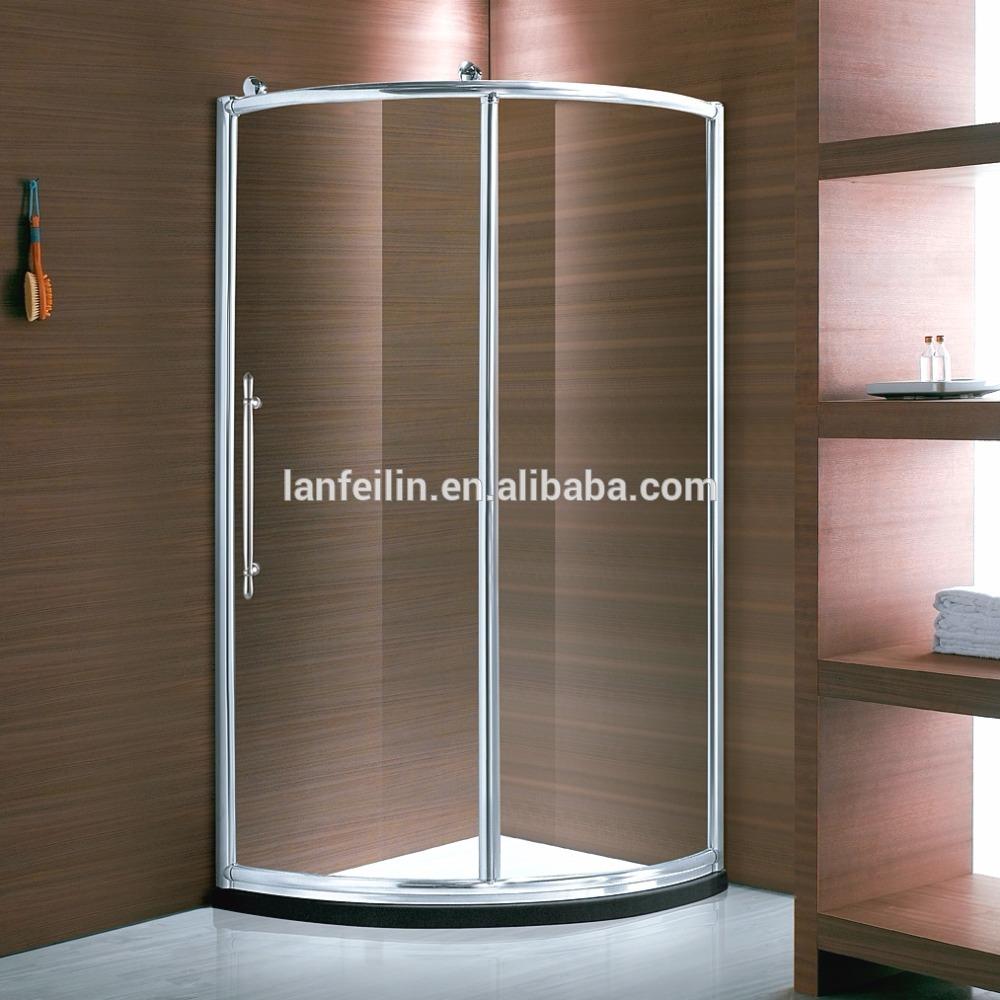 J02r Round Shape Aluminium Alloy Frame Sliding Door Shower Enclosure ...