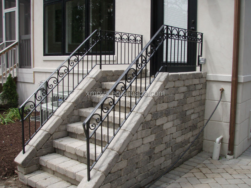 ext rieur en fer forg rampe d 39 escalier cl tures treillis ForRampe D Escalier Exterieur En Fer Forge