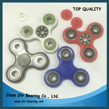 colorful ABS plastic 3 side custom tri fid spinner toy View