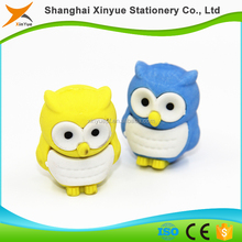 cuboid custom made 3d animal shaped rubber erasers top for gifts
