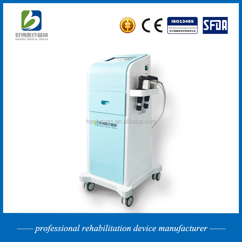 Haobro design high quality shockwave instrument for muscle strain treatment