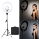 Tolifo 18'' 48W Large Dimmable Makeup Portrait Video Studio Photographic Lighting LED Circle Ring Light