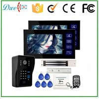 7 inch wired keypad video door phone with id card function intercom