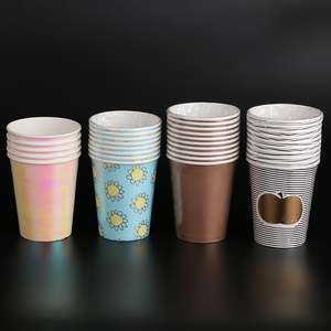 Cheap custom logo paper coffee cup hot stamping paper cup for hot drink