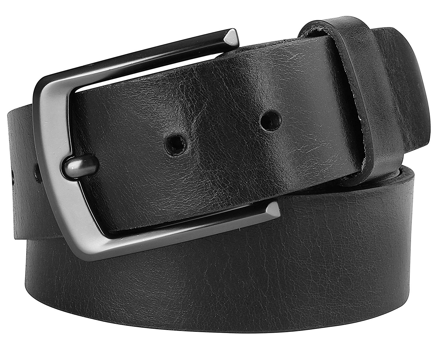 "Men's Full Grain One Piece leather belt w/Snaps for Interchangeable Buckles,1.50"" Wide, USA"