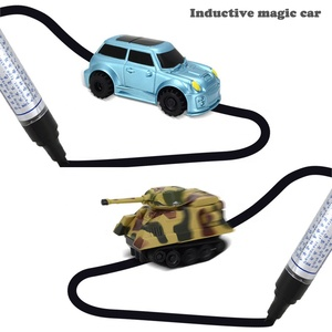 2018 Manufacturer Creative Smart Drawn Line Follow Line Cars Magic Pen Drawing Mini Truck Kids Inductive Car Toys