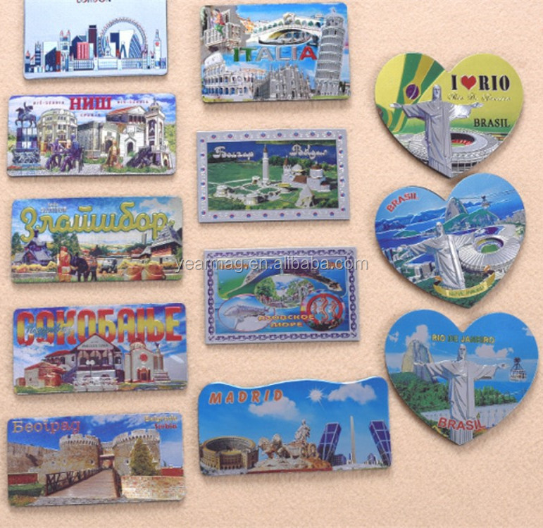 Customize Different Countries Money Currency Collection Metal Aluminum Foil Embossed Fridge Magnets for Tourist Souvenirs