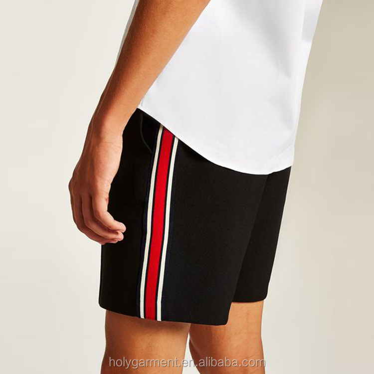 black side taping men's jogger short sports gym shorts for men