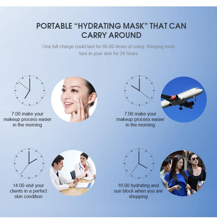 ใหม่ล่าสุด Facial atomizer nano mist sprayer สำหรับเซรั่มเครื่องสำอางบำรุงผิวสำหรับสปา clinic ส่วนตัว
