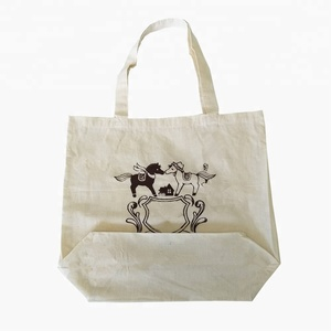 Calico bag with gusset carry bag with logo canvas tote bags bulk