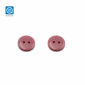 20L 2 Holes Pills Polyester/Resin red black grey colored coat Uniform Button