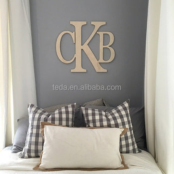 Wooden Monogram Letters Wall Hanging Nursery Decor Wedding Guestbook