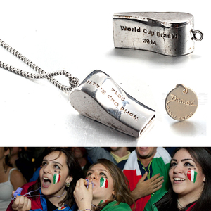 sterling silver World Cup whistle necklace eagle head pendant customized FOR Spain DAMAI Brand