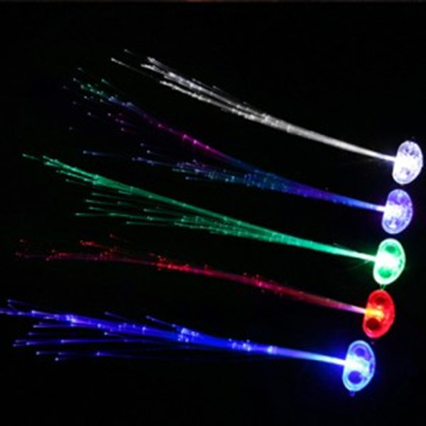 LED Hair Braid Light-Up Flashing Fiber Optic Barrette Hair Assorted for halloween Party Christmas wedding decoration