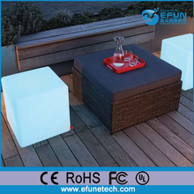 outdoor waterproof portable illuminated bar stool cube furniture,led cube seating