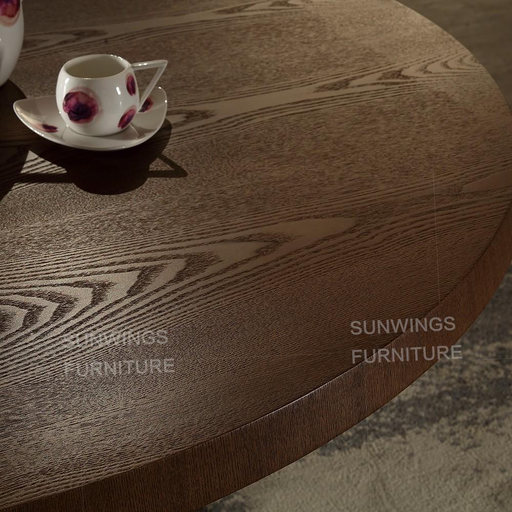 Groothandel houten ontwerp ronde vorm eetkamer eettafel sets ...