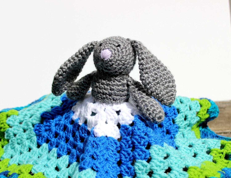 Bunny Baby Blanket Minky, Bunny Baby Lovey, Bunny Blanket, Bunny Baby Comfort Blanket
