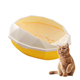 Cat litter box kit includes scoop and reusable liner